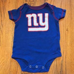 New York Giants Football Baby Onesie 3-6 Months